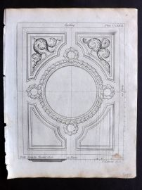 Langley 1777 Antique Architectural Print. Ceiling 172
